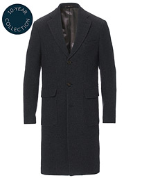 Morris Heritage Structured Wool Patch Pocket Coat Charcoal