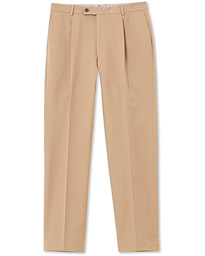 Morris Heritage Philip Cotton Twill Trousers Beige