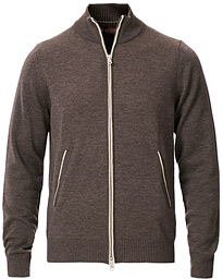 Morris Heritage Heritage 2 Way Zip Cardigan Brown