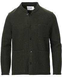 NN07 Oswald Wool Blazer Army Green