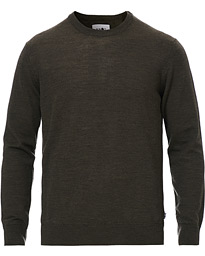 NN07 Ted Merino Crew Neck Pullover Army Green