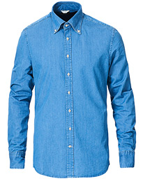 Stenströms Slimline Denim Button Down Shirt Denim