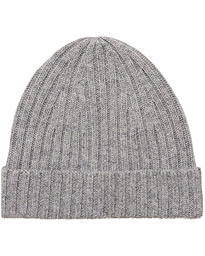 Stenströms Ribbed Cashmere Hat Grey
