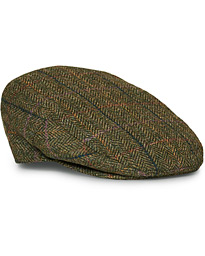 Barbour Lifestyle Moons Tweed Cap Olive Herringbone
