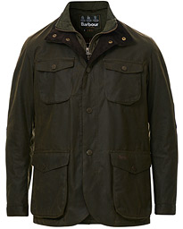 Ogston Waxed Jacket Olive