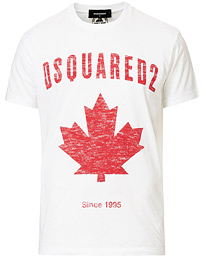 Dsquared2 Cool Fit Printed Logo Crew Neck Tee White