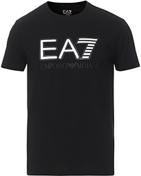 EA7 Train Logo Crew Neck Tee Black