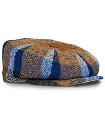Lock & Co Hatters Tremelo Checked Tweed Cap Blue/Brown