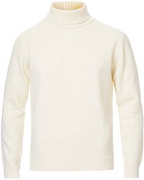 Heavy Knitted Merino Roll Neck Cream