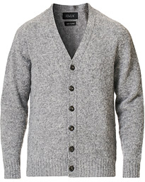 Howlin' Brushed Wool Cardigan Med Grey