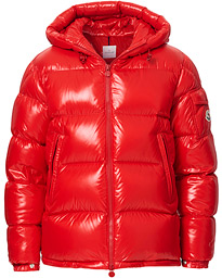 Moncler Ecrins Gloss Down Jacket Red