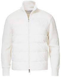 Moncler Hybrid Full Zip White