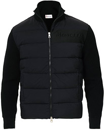 Moncler Hybrid Full Zip Black