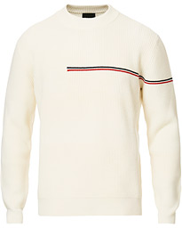 Moncler Knitted Crew Neck White