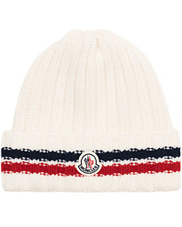 Moncler Ribbed Beanie White