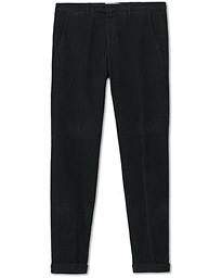 Slim Fit Corduroy Trousers Black