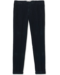 Slim Fit Corduroy Trousers Navy