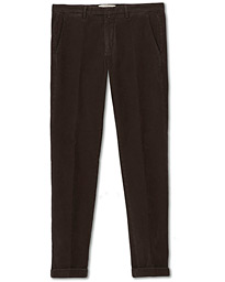 Slim Fit Corduroy Trousers Brown