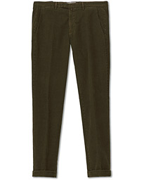Slim Fit Corduroy Trousers Olive