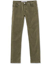 5-Pocket Cotton Trousers Olive