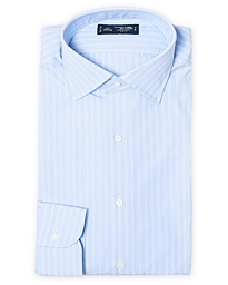 Slim Fit Broadcloth Striped Shirt Light Blue