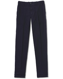 Slim Fit Drawstring Work Pants Dark Blue