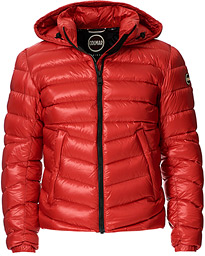 Blaze High Shine Down Hooded Jacket Hermes Red