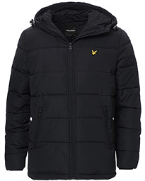 Lyle & Scott Wadded Hooded Jacket Jet Black