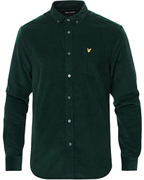 Lyle & Scott Corduroy Shirt Jade Green