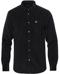 Lyle & Scott Corduroy Shirt Jet Black
