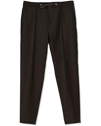 BOSS Bardon Flannel Drawstring Trousers Dark Brown