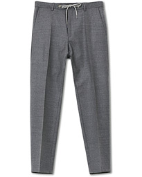 BOSS Bardon Flannel Drawstring Trousers Dark Grey