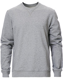 Hugo Organic Cotton Crew Neck Sweat Grey Mel