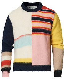 Patchwork Sweater Navy/Cream