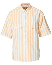 Diamond Stripe Short Sleeve Shirt Melon Orange