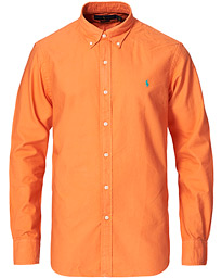 Slim Fit Garment Dyed Oxford Shirt Orange