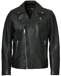 Jabin Leather Jacket Black