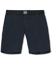 Garment Dyed Belted Shorts Navy