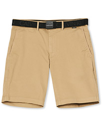 Garment Dyed Belted Shorts Travertine