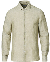 Slim Fit Linen Shirt Seagrass