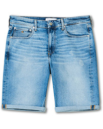 Regular Fit Stretch Denim Shorts Light Blue