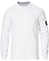 Monogram Badge Waffle Long Sleeve Tee Bright White