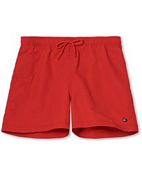 Solid Medium Drawstring Swimshorts Primary Red