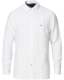 Pigment Dyed Linen Shirt White
