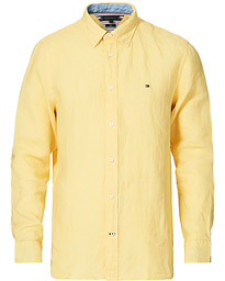 Pigment Dyed Linen Shirt Delicate Yellow