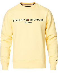 Logo Crew Neck Sweatshirt Delicate Yellow