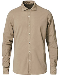 Cotton Stretch Jersey Shirt Beige