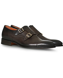Blake Double Monk  Dark Brown Calf