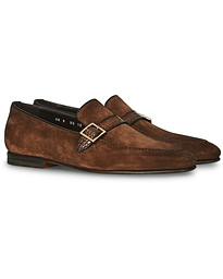 Croc Buckle Loafer Brown Suede