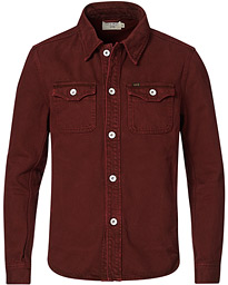 Get Organic Cotton Denim Jacket Wine Red